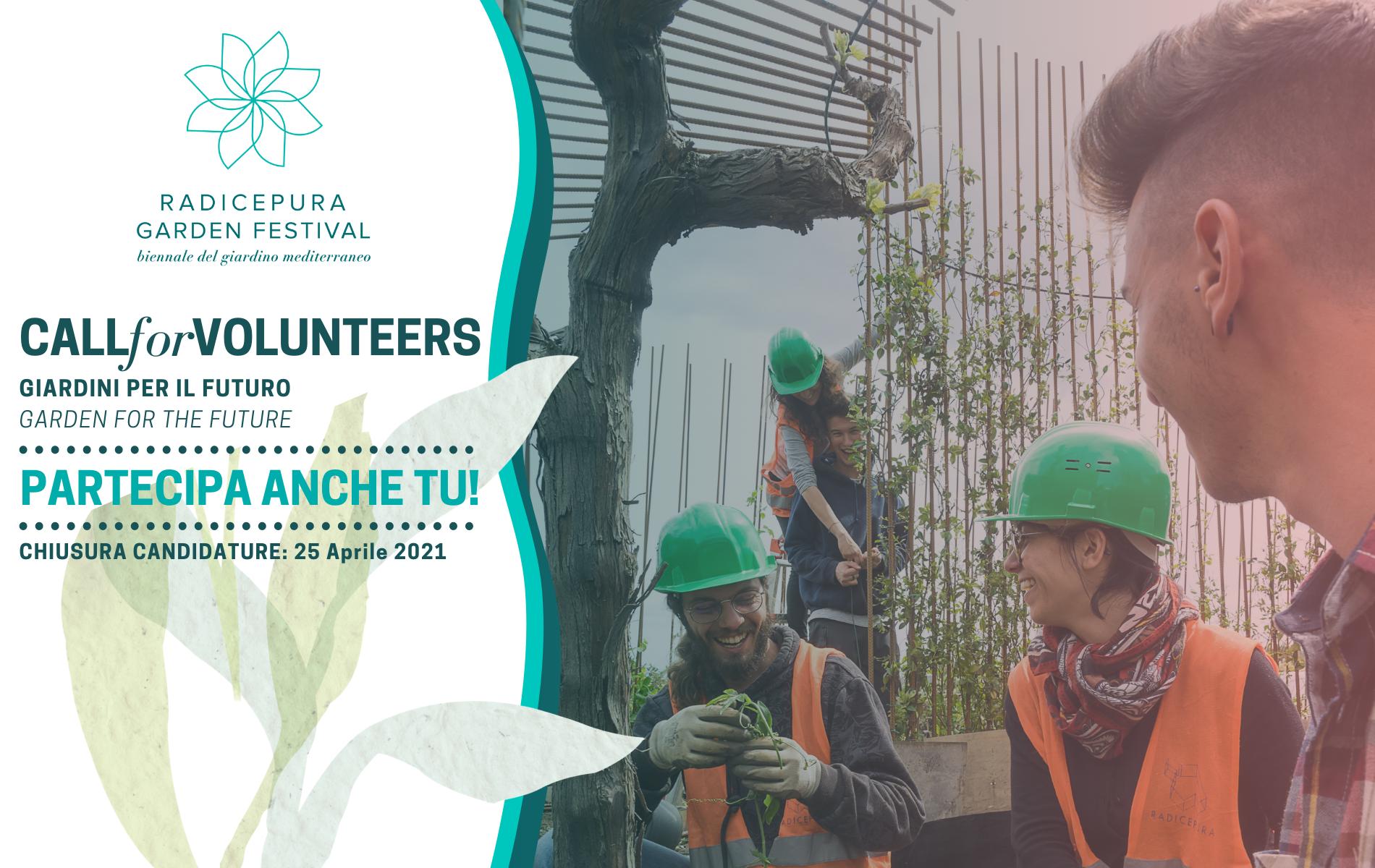 Ricerca volontari Radicepura Garden Festival